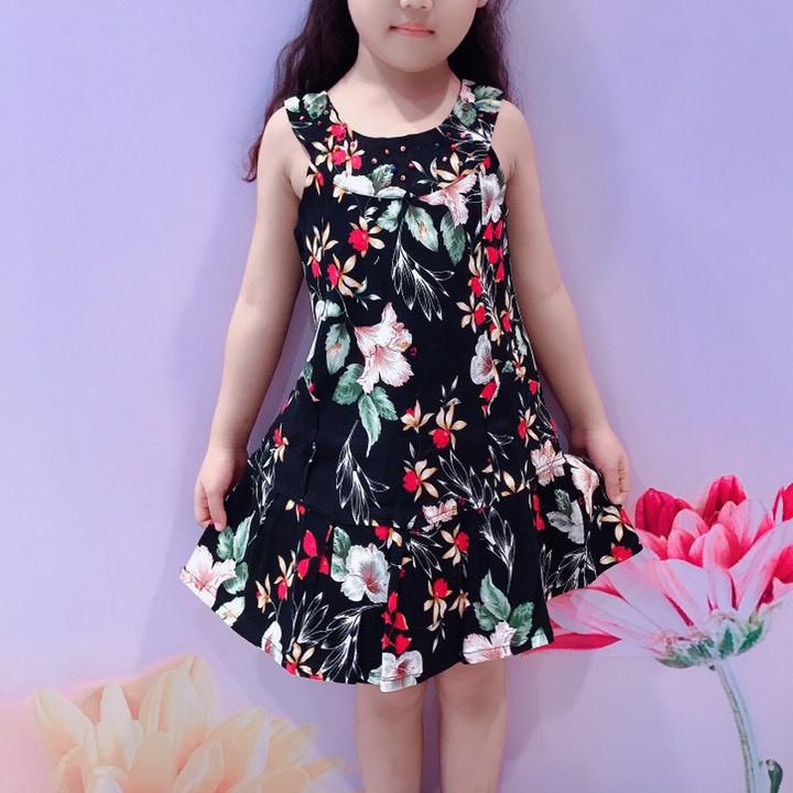 Đầm bé gái họa tiết hoa