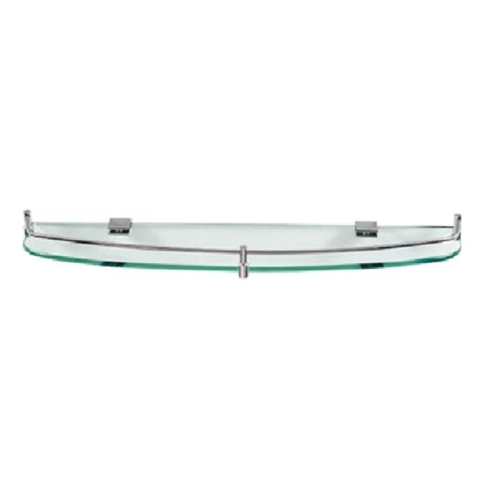 Kệ Gương Phòng Tắm Inox 304 Cao Cấp (Kính Cường Lực TP30 - 600mm)  (600 x 120 x 10 mm)