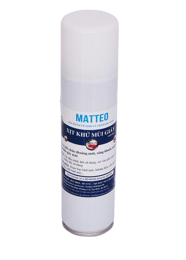 Chai xịt khử mùi giày Matteo công nghệ Nano Bạc 150ml - 7564921 , 1940156749288 , 62_16873521 , 100000 , Chai-xit-khu-mui-giay-Matteo-cong-nghe-Nano-Bac-150ml-62_16873521 , tiki.vn , Chai xịt khử mùi giày Matteo công nghệ Nano Bạc 150ml
