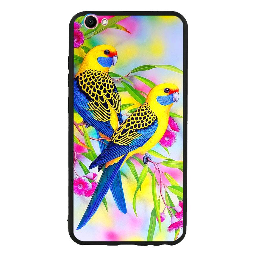 Ốp lưng nhựa cứng viền dẻo TPU cho điện thoại Vivo V5 - Couple Bird