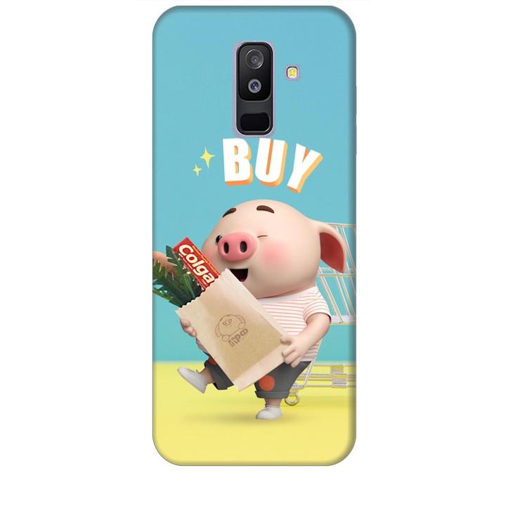 Ốp lưng dành cho điện thoại  SAMSUNG GALAXY A6P LUS 2018 Heo Con Mua Sắm