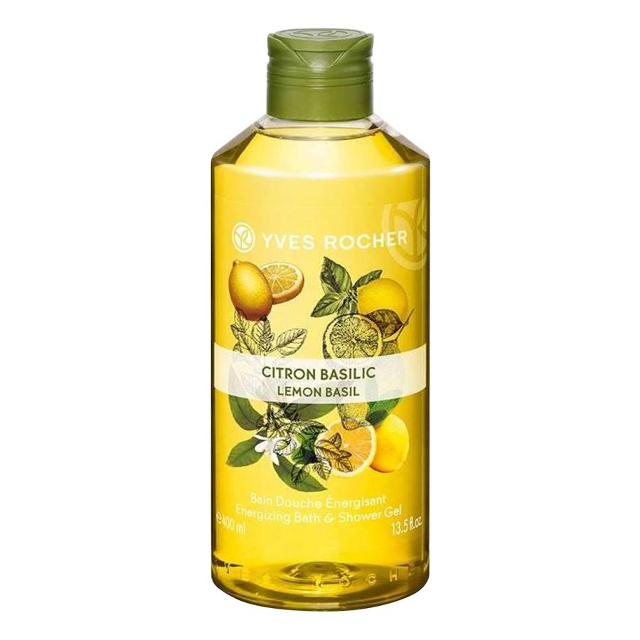 Gel Tắm Hương Chanh Và Húng Quế Yves Rocher Lemon Basil Energizing Bath  Shower Gel 400ml