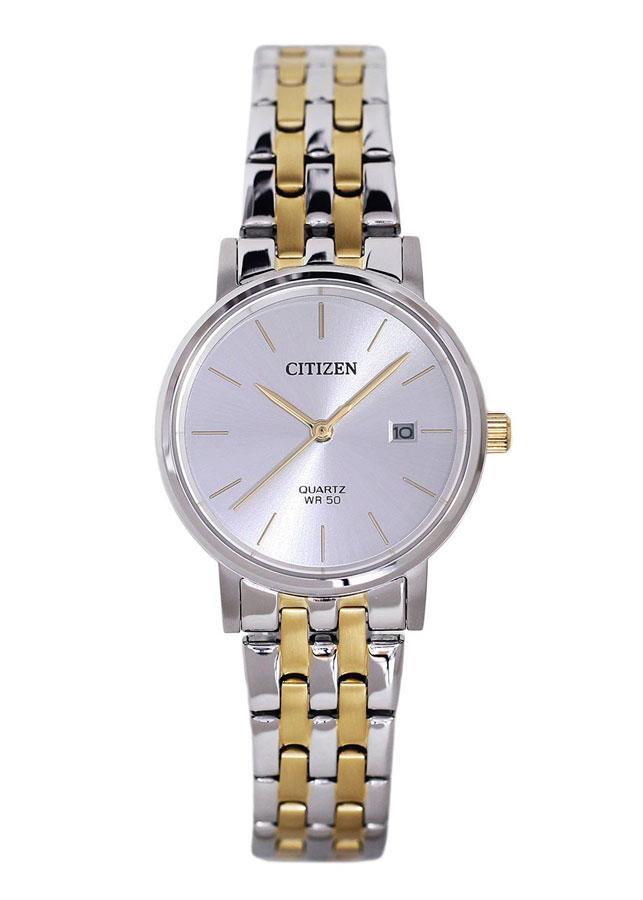 Đồng hồ Nữ Citizen dây kim loại EU6094-53A - Mặt Bạc (28mm)