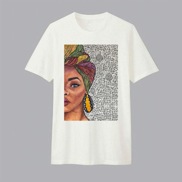 Áo T-shirt Trẻ Em Cô Gái Châu Phi Dotilo B149 - Trắng