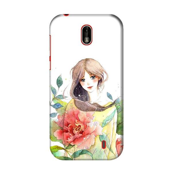 Ốp Lưng Dành Cho Điện Thoại Nokia 1 - Cô Gái Hoa Hồng