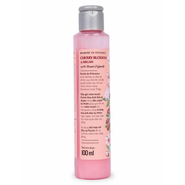 Dầu Gội Mềm Mượt Purite By Provence Cherry Blossom  Argan Normal Hair (100ml)