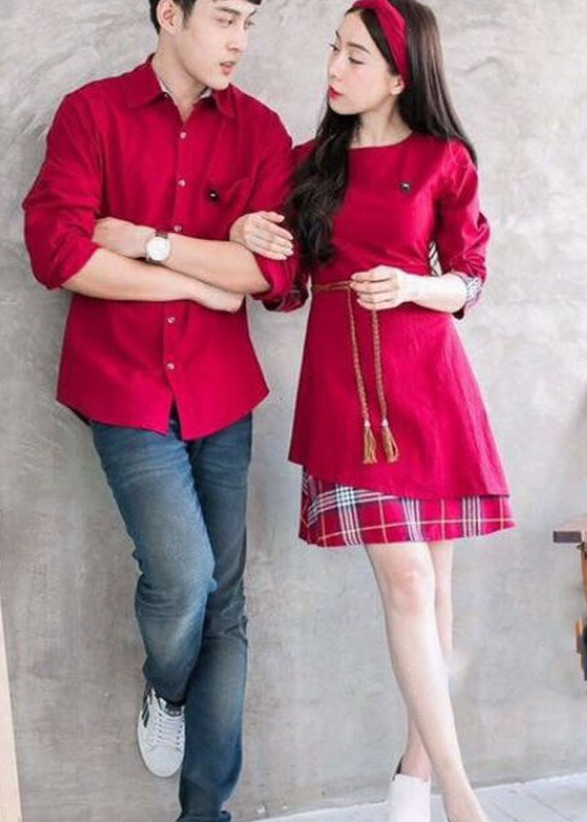 áo váy cặp chất vải đẹp AV157