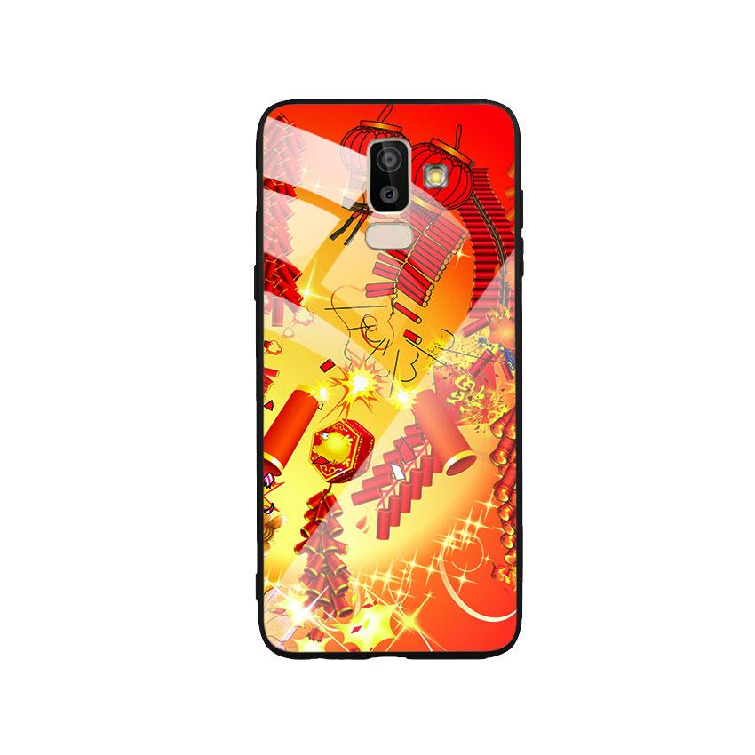 Ốp Lưng Kính Cường Lực cho điện thoại Samsung Galaxy J8 - Firework 02