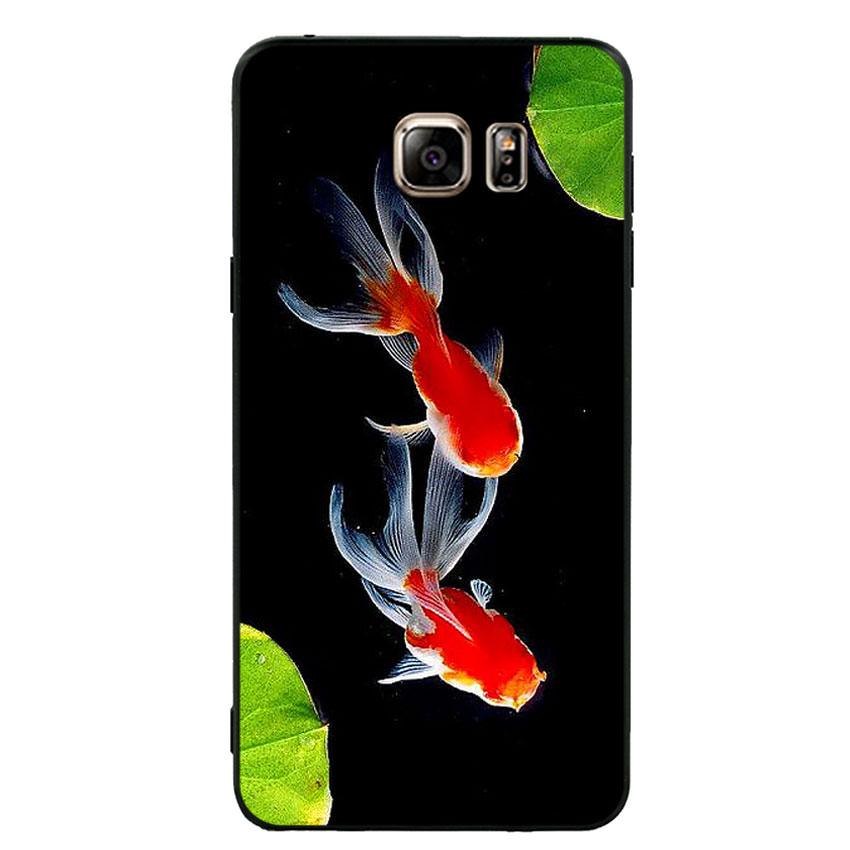 Ốp lưng nhựa cứng viền dẻo TPU cho điện thoại Samsung Galaxy Note 5 - Cá Koi 03