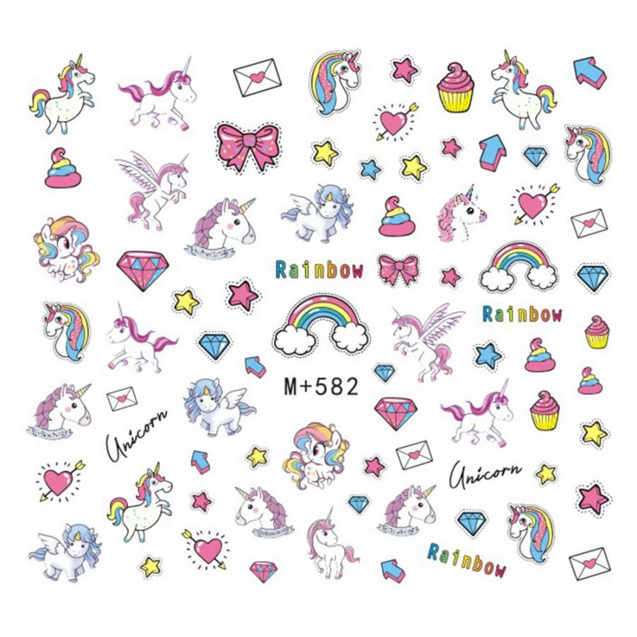 Sticker Dán Móng Tay Unicorn