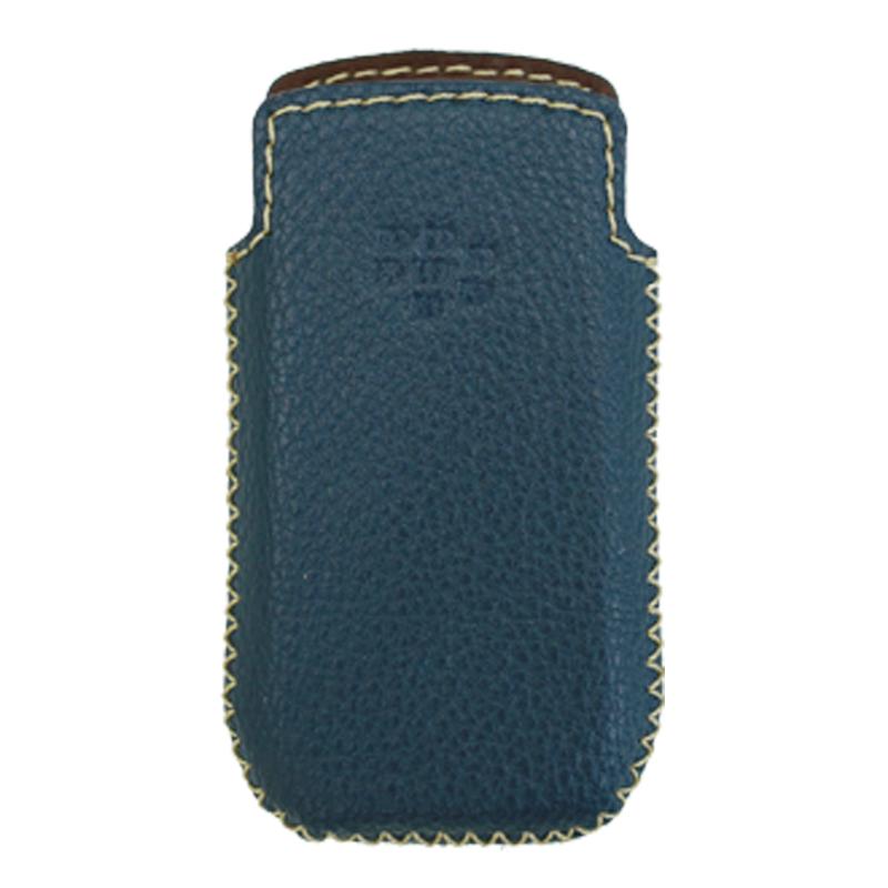 Bao Da Rút Dành Cho Blackberry pearl  9100 - 9105  màu xanh navy