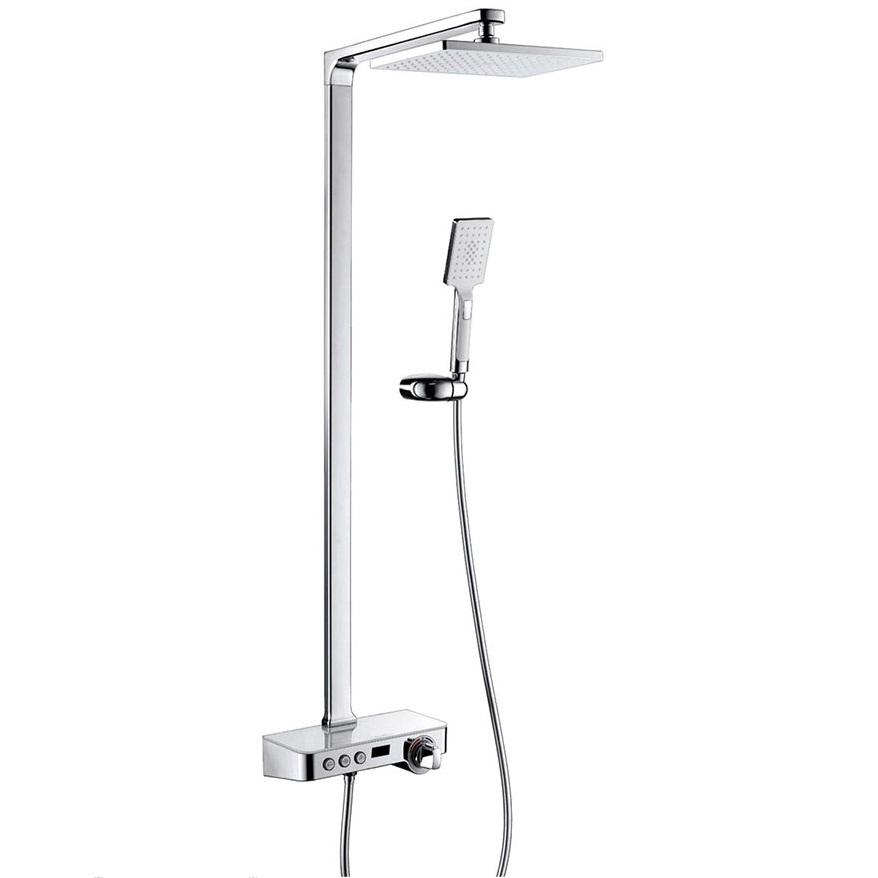 Bộ sen cây tắm đứng nóng lạnh màn hình LED, Khóa Thermostat Eurolife EL-S915