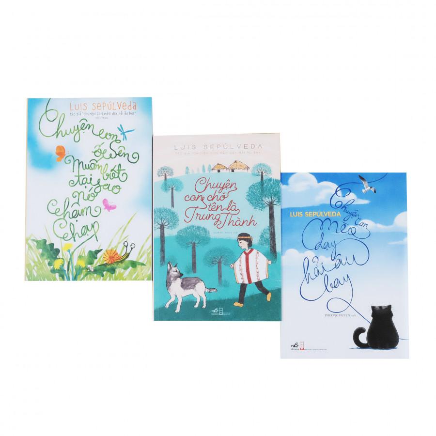 Bộ 03 cuốn truyện kinh điển của Luis Sepulveda về con mèo, con ốc sên và con chó