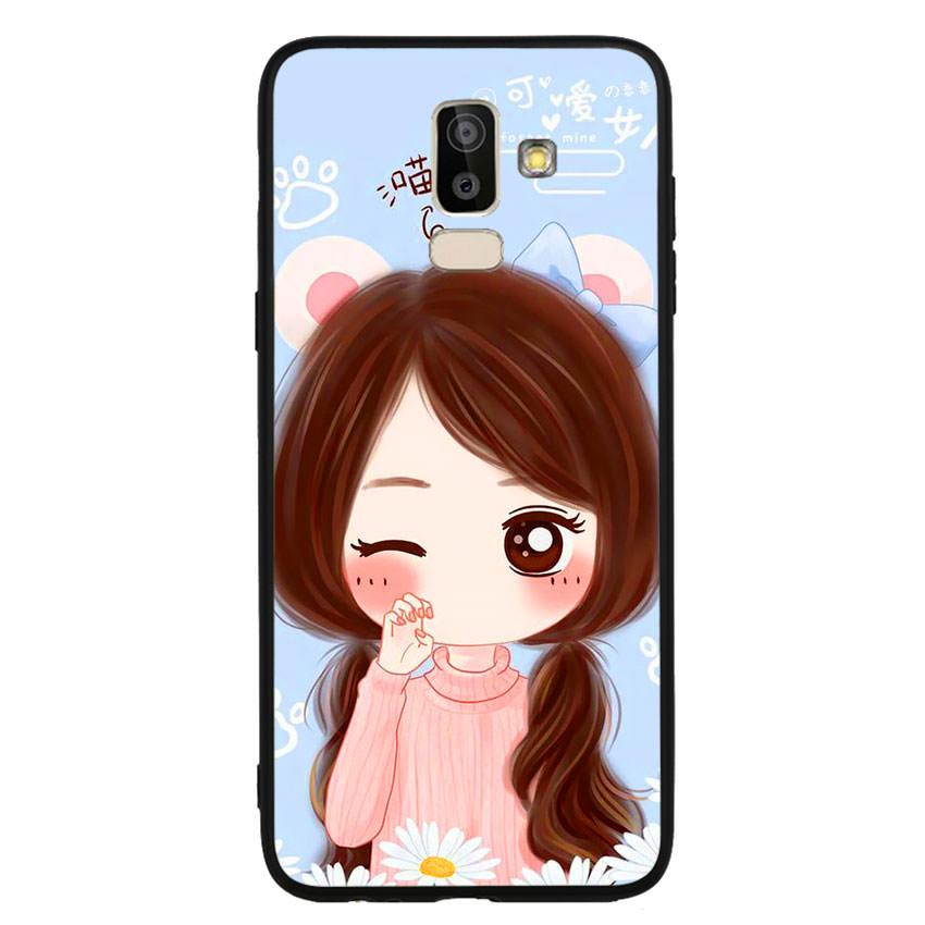 Ốp lưng viền TPU cao cấp cho điện thoại Samsung Galaxy J8 -Baby Girl