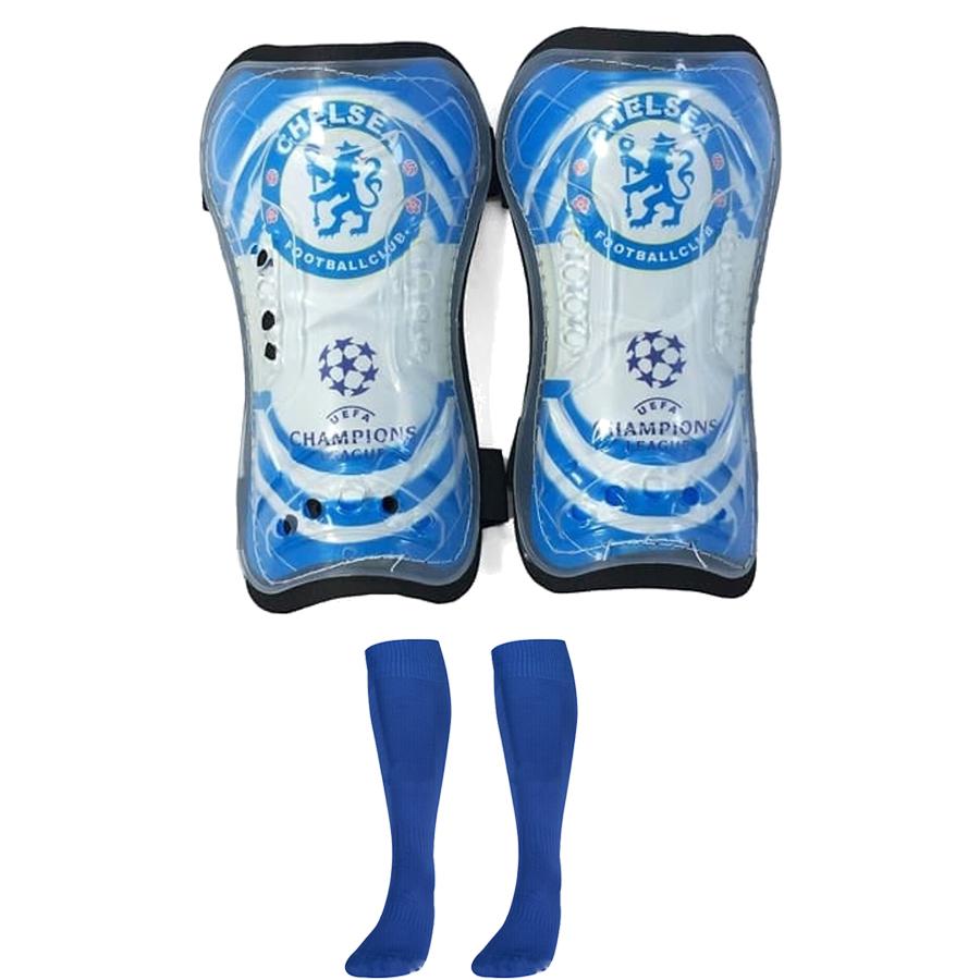 Combo Bó ống đồng đá bóng trẻ em các câu lạc bộ + Tất đá bóng dài trẻ em - Giao màu ngẫu nhiên (Free size)