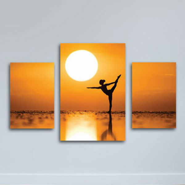 Tranh Canvas Có Viền Treo Tường Yoga Bên Bờ Biển W1138