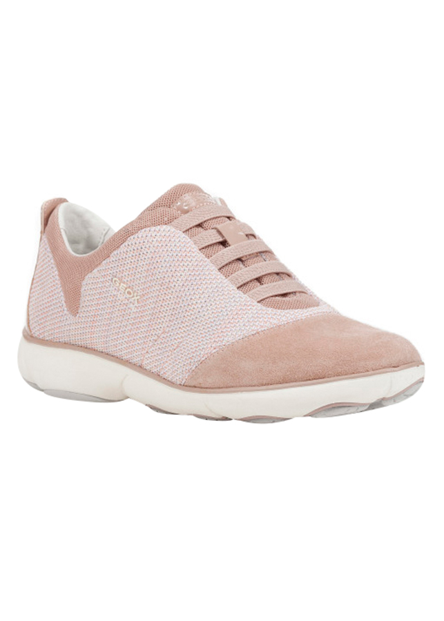 Giày Sneakers Nữ GEOX D NEBULA C KNITT.TEXT.+SUEDE ANTIQUE ROSE - Hồng