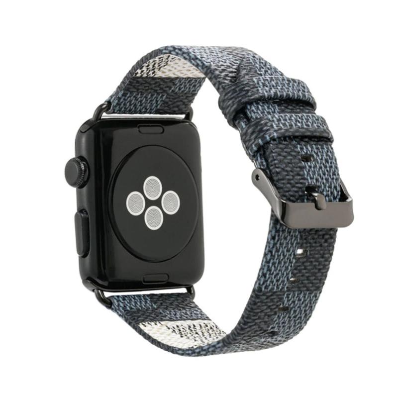 Dây da đeo thay thế Apple Watch 42mm / 44mm Kakapi vân LV (ngàm nối màu ngẫu nhiên) - Hàng chính hãng