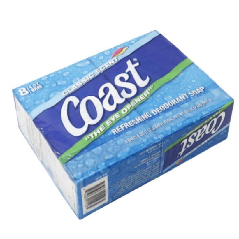 Xà phòng Coast Classic Scent Refreshing Deodorant Soap lốc 8 x113g - Nhập khẩu Mỹ