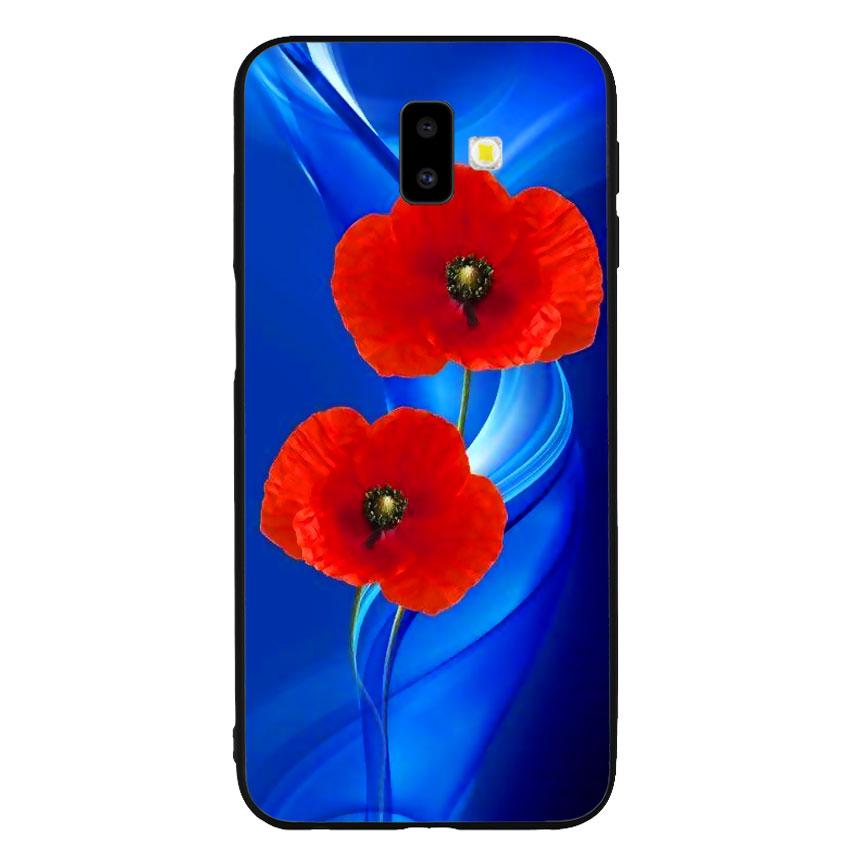 Ốp lưng nhựa cứng viền dẻo TPU cho điện thoại Samsung Galaxy J6 Plus - Anh Túc Hoa 02