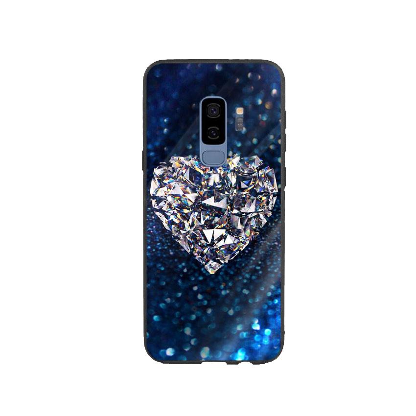 Ốp Lưng Kính Cường Lực cho điện thoại Samsung Galaxy S9 Plus - Heart 11