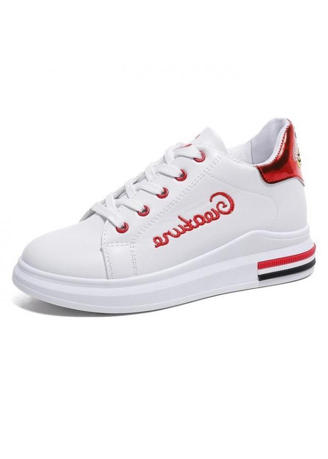 Giày Sneaker Nữ Mẫu Mới Siêu Hot Yamet YR358WR Trắng Phối Đỏ