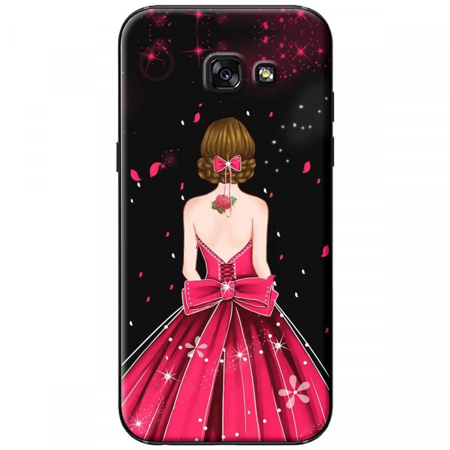 Ốp lưng dành cho Samsung A5 2017 Cô gái váy hồng