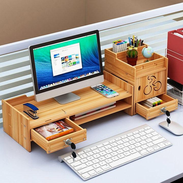 Kệ gỗ để màn hình máy tính có ngăn kéo 2 bên - 16351104 , 5942220095938 , 62_23909230 , 569000 , Ke-go-de-man-hinh-may-tinh-co-ngan-keo-2-ben-62_23909230 , tiki.vn , Kệ gỗ để màn hình máy tính có ngăn kéo 2 bên