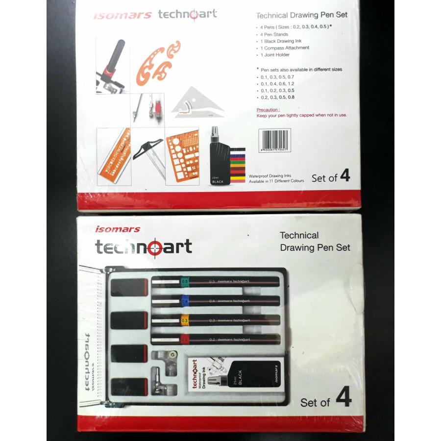 Bộ Bút Vẽ Kỹ Thuật  ISOMARS Technoart Drawing Set Of 4 - 1885483 , 8892563472422 , 62_14437972 , 1200000 , Bo-But-Ve-Ky-Thuat-ISOMARS-Technoart-Drawing-Set-Of-4-62_14437972 , tiki.vn , Bộ Bút Vẽ Kỹ Thuật  ISOMARS Technoart Drawing Set Of 4