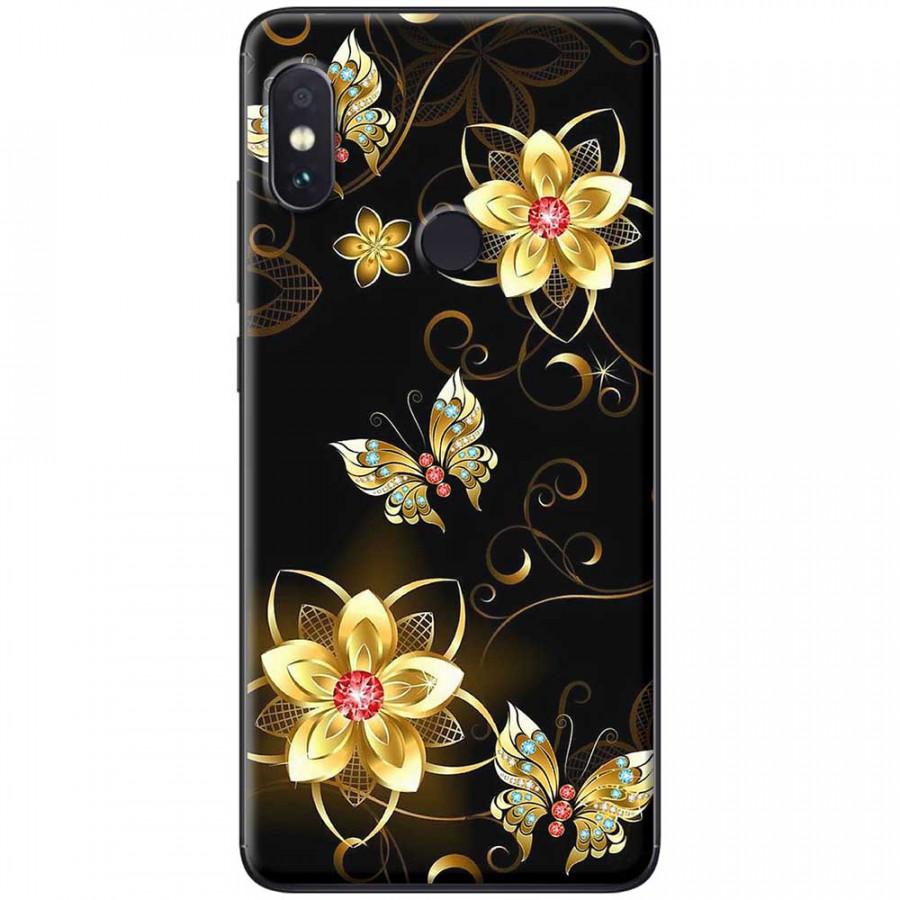 Ốp lưng dành cho Xiaomi Redmi Note 6 mẫu Hoa bướm vàng