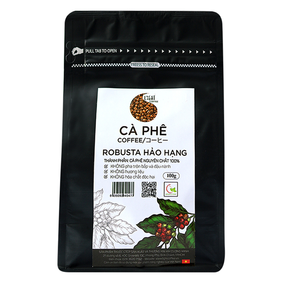 Cà Phê Hạt Nguyên Chất 100% Robusta Hảo Hạng Light Coffee RHH-100 (100g) - 9327705251683,62_1207079,100000,tiki.vn,Ca-Phe-Hat-Nguyen-Chat-100Phan-Tram-Robusta-Hao-Hang-Light-Coffee-RHH-100-100g-62_1207079,Cà Phê Hạt Nguyên Chất 100% Robusta Hảo Hạng Light Coffee RHH-100 (100g)