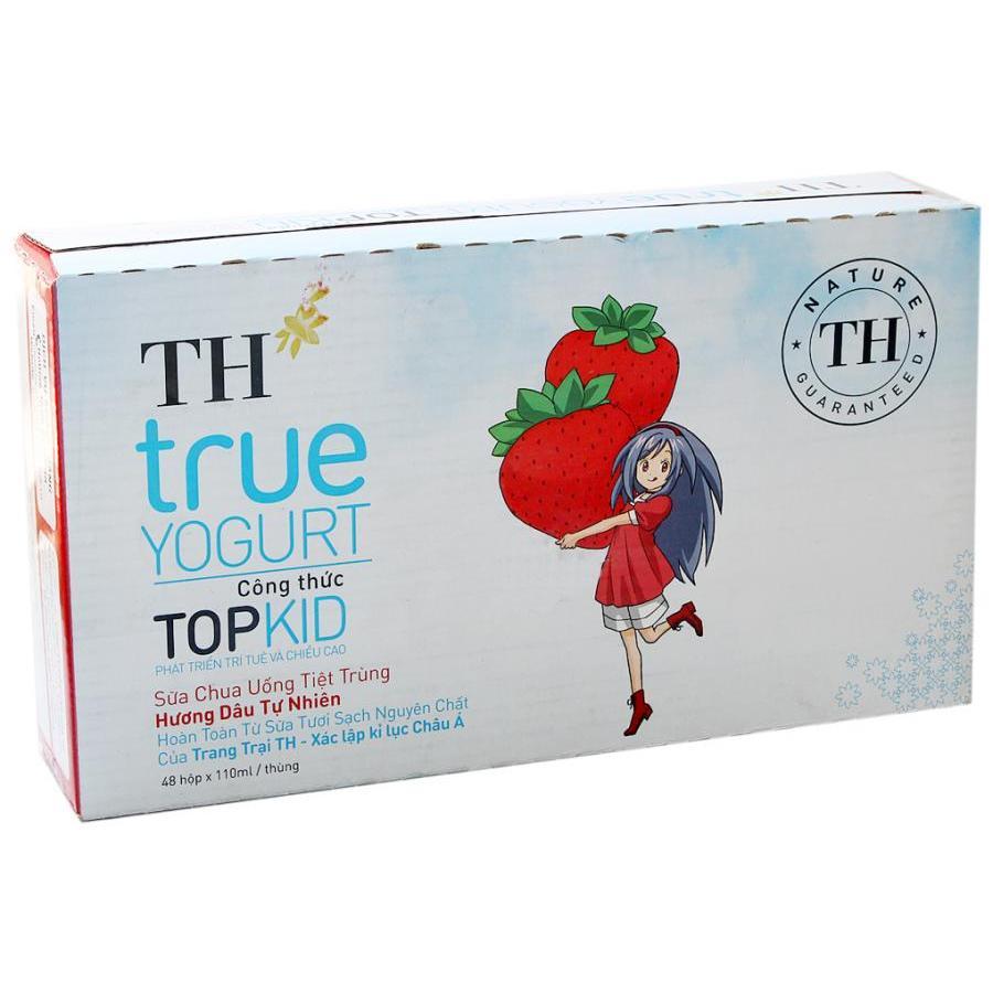 Bộ 12 Lốc 4 Hộp Sữa Chua Uống Tiệt Trùng TH True Milk Hương Dâu Tự Nhiên Topkid (110ml / Hộp) - 985182 , 8631238617733 , 62_2593649 , 245000 , Bo-12-Loc-4-Hop-Sua-Chua-Uong-Tiet-Trung-TH-True-Milk-Huong-Dau-Tu-Nhien-Topkid-110ml--Hop-62_2593649 , tiki.vn , Bộ 12 Lốc 4 Hộp Sữa Chua Uống Tiệt Trùng TH True Milk Hương Dâu Tự Nhiên Topkid (110ml /