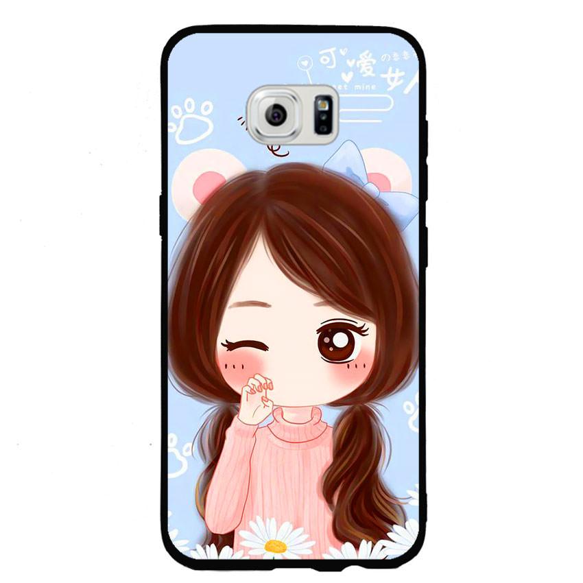 Ốp lưng nhựa cứng viền dẻo TPU cho điện thoại Samsung Galaxy S6 Edge -Baby Girl