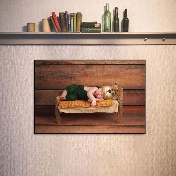 Tranh Phòng Ngủ Trẻ Em - Tranh Em Bé Ngủ Đáng Yêu Gỗ MDF W1170