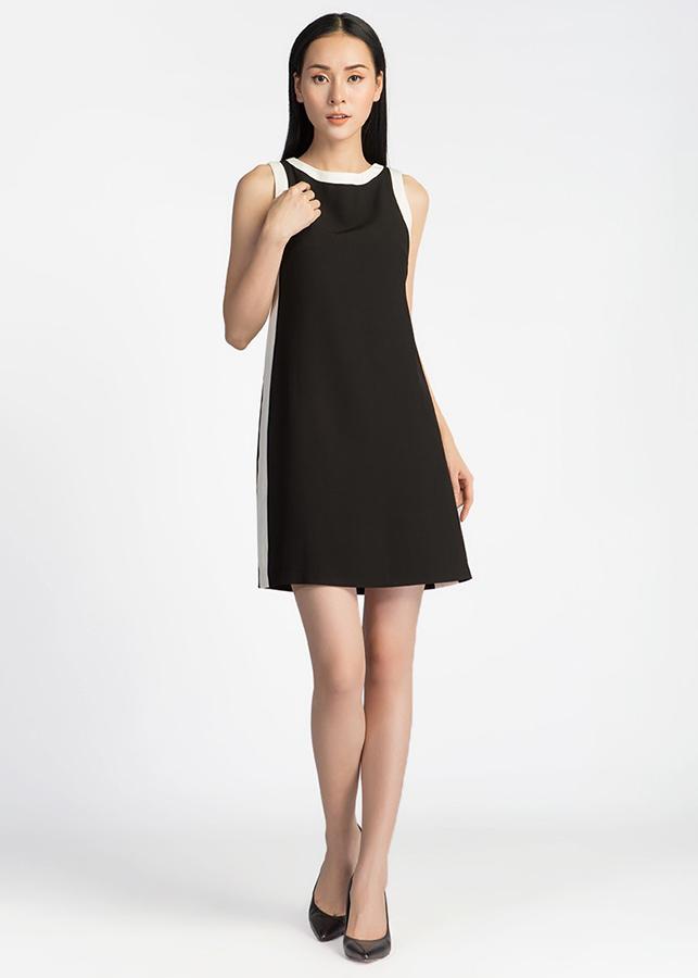 Đầm Suông Can Sườn De Leah -  Đen