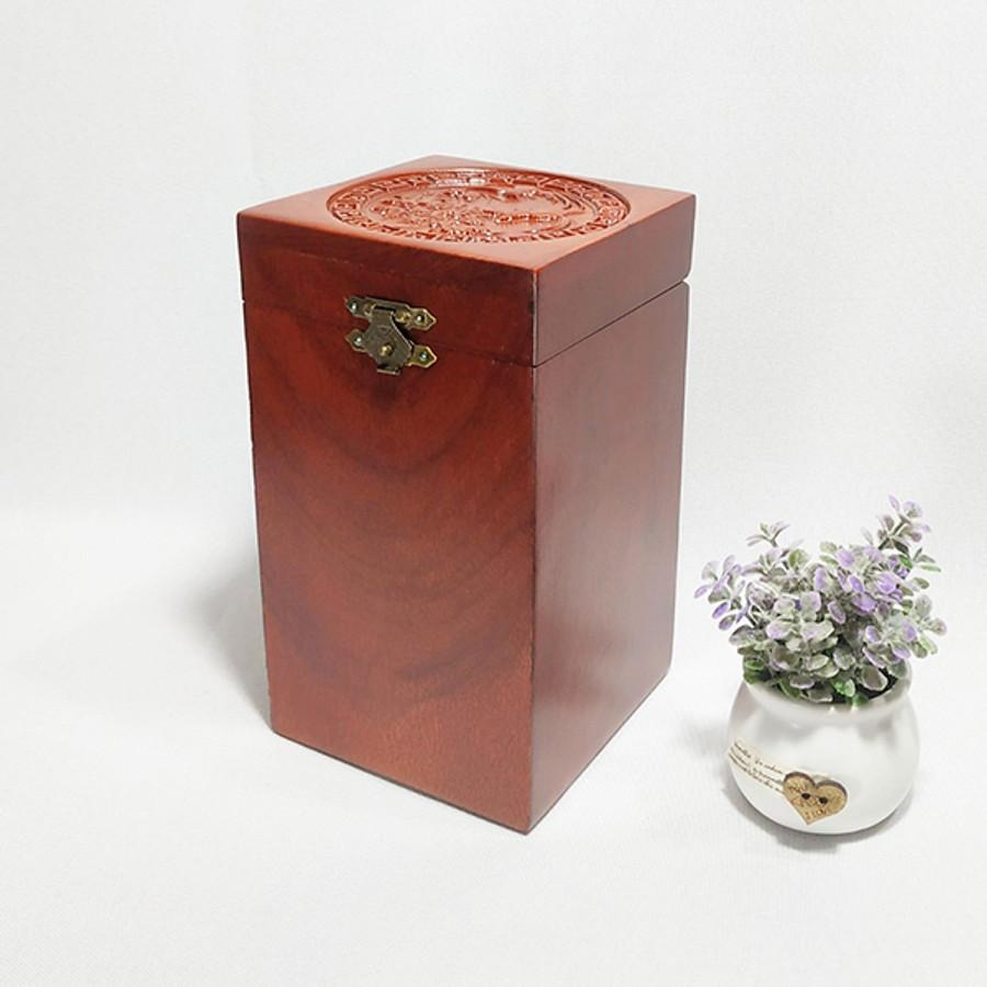 Hộp đựng trà gỗ hương cao cấp trạm khắc chim phượng hoàng tinh xảo RAW