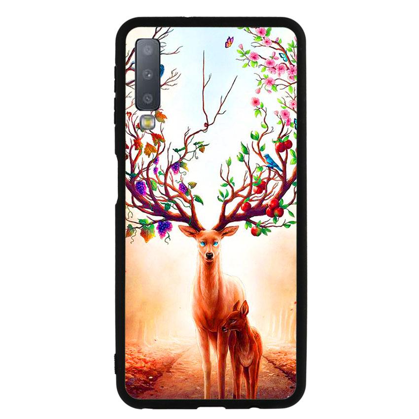 Ốp Lưng Viền TPU cho điện thoại Samsung Galaxy A7 2018 -Deer 01