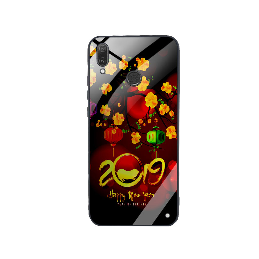 Ốp Lưng Kính Cường Lực cho điện thoại Huawei Y9 2019 - Hello 2019_6