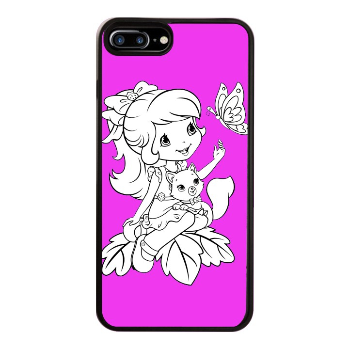Ốp Lưng Kính Cường Lực Dành Cho Điện Thoại iPhone 7 Plus / 8 Plus Baby Strawberry Mẫu 9