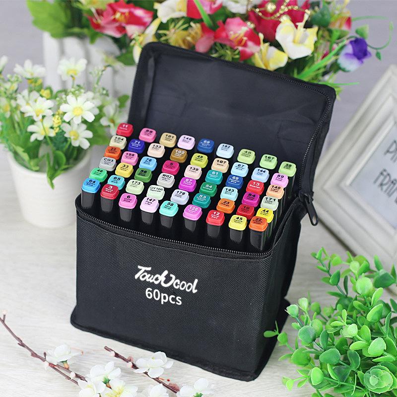 Bút Marker Touch Cool Túi Vải 30/40/60/80 Màu Chuyên Nghiệp