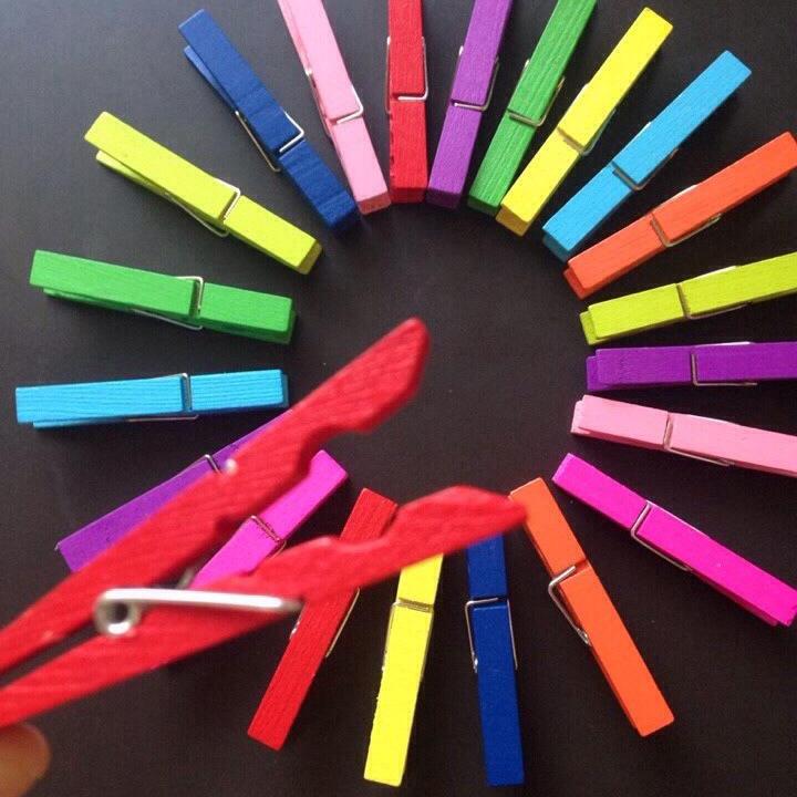 Kẹp Gỗ nhiều màu - Rèn luyện đôi tay - Mã KGM