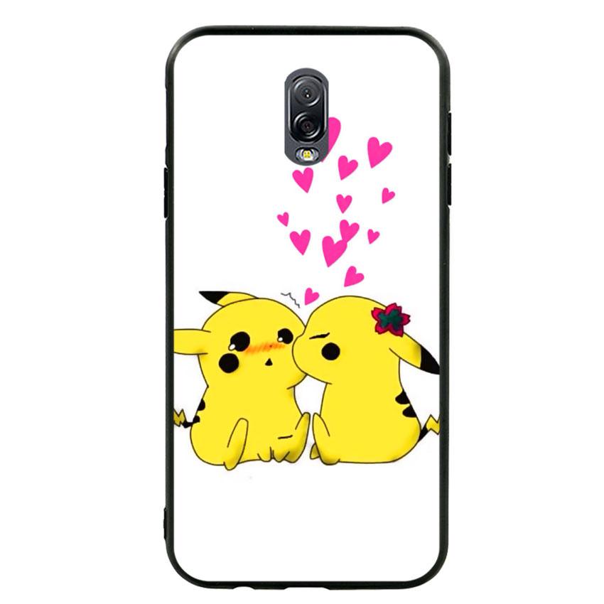 Ốp lưng viền TPU cho điện thoại Samsung Galaxy J7 Plus - Pikachu 02