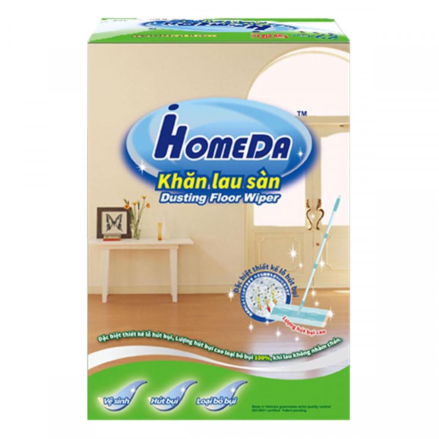 Khăn lau phòng sạch không vết ố gấp gọn nhẹ dễ dùng Chất lượng Nhật Bản iHomeda Dusting Floor Wiper, 25 miếng
