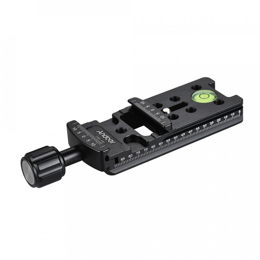 Andoer FNR-200 200mm Quick Release Plate Tripod Nodal Slide Tripod Rail Quick Release Plate Clamp Adapter Adopt for Arca