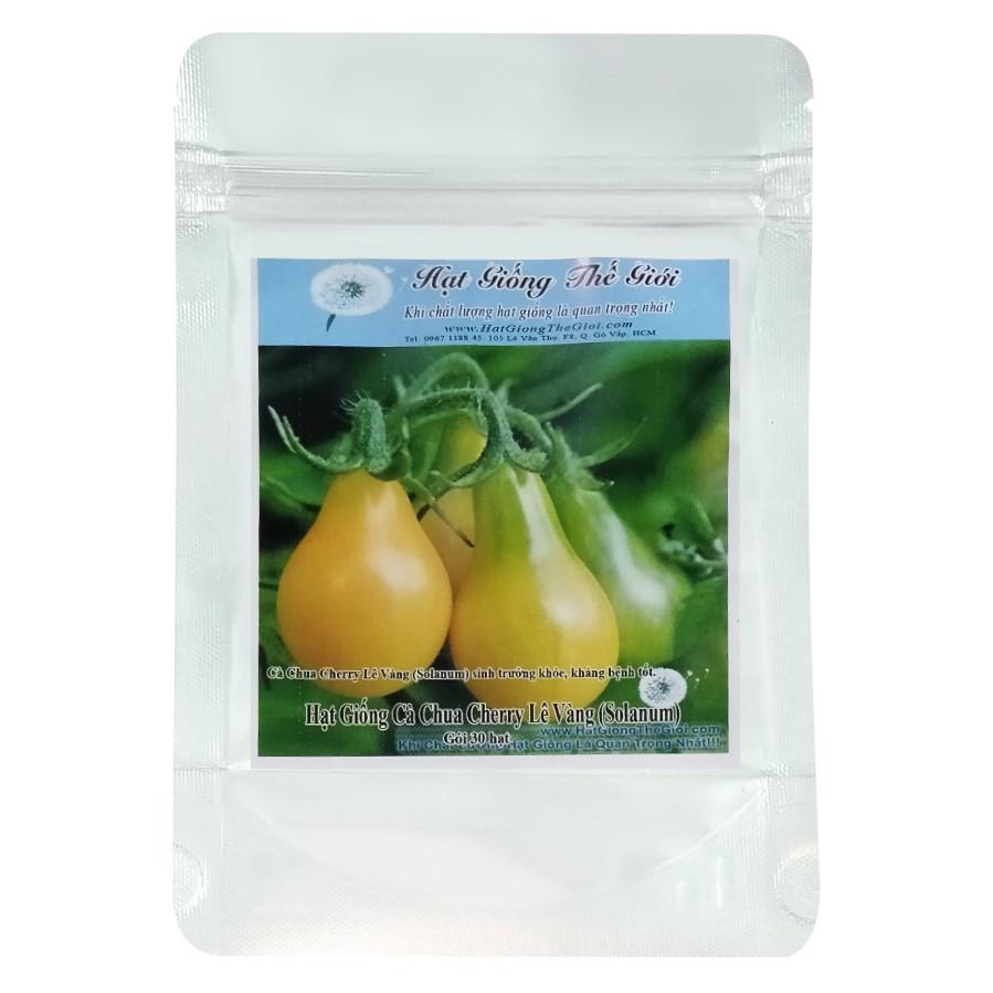 Hạt Giống Cà Chua Cherry Lê Vàng - Solanum lycopersicum (30 Hạt)