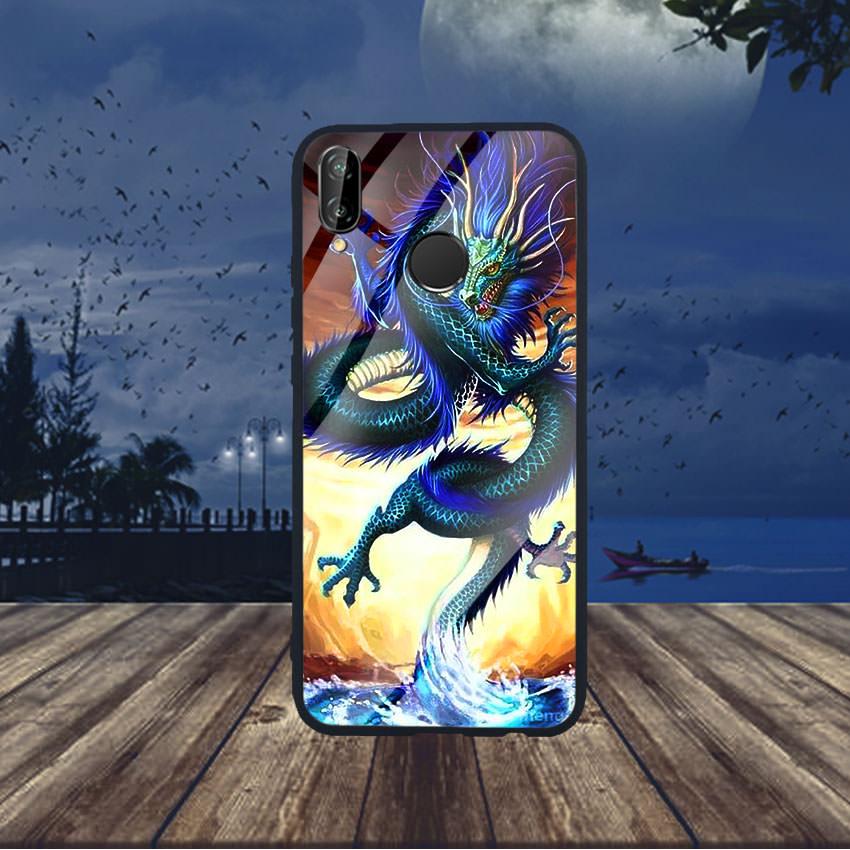 Ốp Lưng Kính Cường Lực cho điện thoại Huawei Nova 3e - Dragon 08