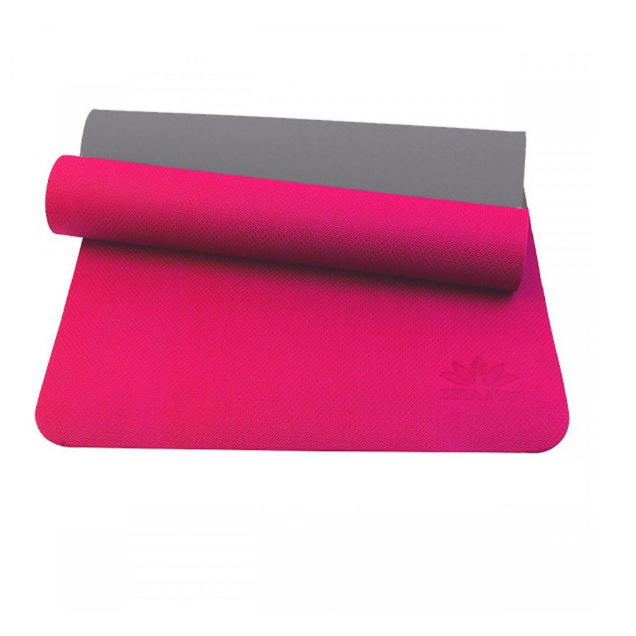 Thảm Yoga Premium Zera YESURE 8mm 2 Lớp Màu Hồng