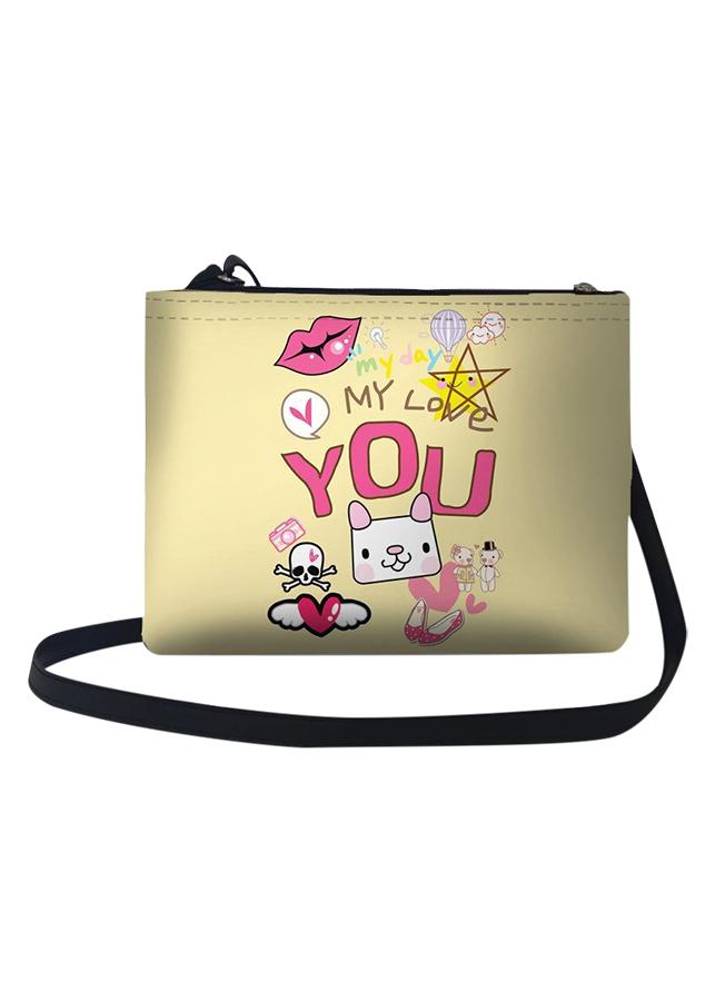 Túi Đeo Chéo Nữ In Hình My Day My Love You - TUCT265 (24 x 17 cm)
