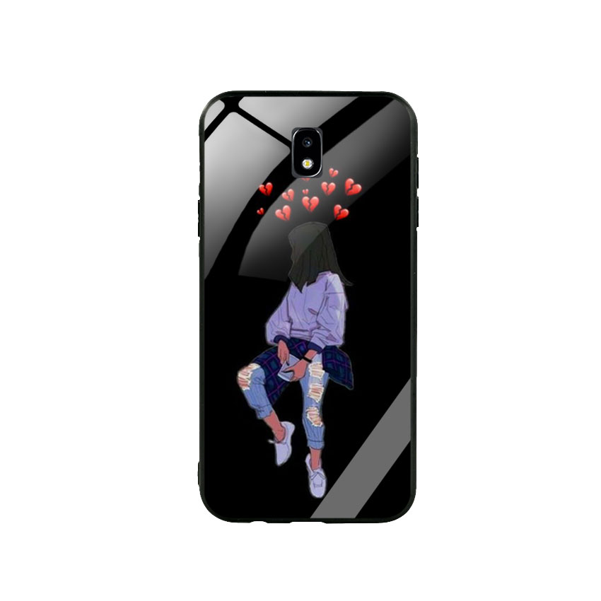 Ốp Lưng Kính Cường Lực cho điện thoại Samsung Galaxy J7 Pro - Alone 05
