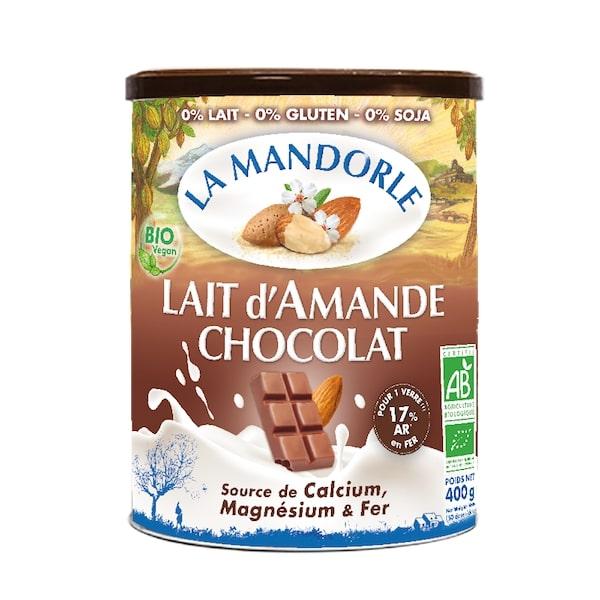 Thùng 6 hộp sữa bột hạnh nhân socola hữu cơ La mandorle 400g